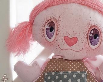 Handmade doll Fabric Doll Rag Doll Cupid Cupid Love Messenger