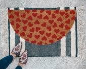 Valentine's Hearts Doormat | Semi-Circle Welcome Mat | Valentine's Porch Decor | half-circle doormat | cute doormat | Galentine's Decor