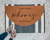 There's Some Whores in This House Doormat | Semi-Circle WAP Welcome Mat | porch decor | half-circle doormat | outdoor doormat | patio decor
