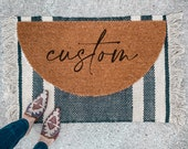 Custom Welcome Doormat | Semi-Circle Welcome Mat | porch decor | custom doormat | outdoor doormat | cute doormat