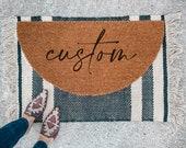 Custom Welcome Doormat | Semi-Circle Welcome Mat | porch decor | custom doormat | outdoor doormat | cute doormat
