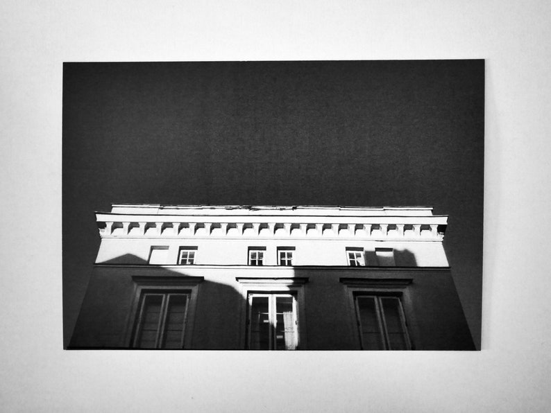 Black And White Postcard From >> Photography Artwork Postcard Black White Etsy