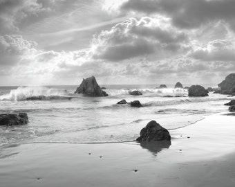 beach rocks wave