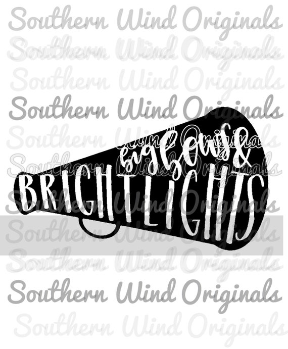 Big Bows Bright Lights Cheer Svg File For Cricut Silhouette Etsy