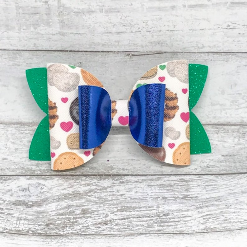 Girl Scout Cookie Season Bow double layered bow Girl Scout image 0