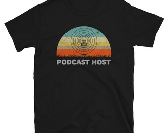 Retro Style Podcast Host Unisex Shirt Gift