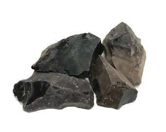 Make arrow heads Knapping Flintlock 333+g Natural Real Black Flint for Fire kits