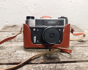 Sale FED 5 Camera. Vintage Rangefinder Camera with lens Industar-61, Soviet Leica