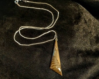 Fossil stone pendant