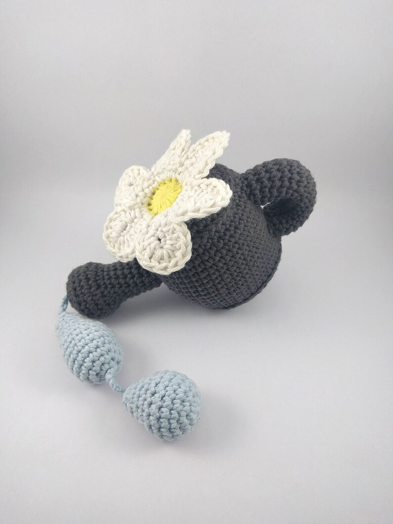 Baby Rattle  Watering Can Rattle Toy  Pretend Play  Crochet Baby Toy  Gardening Toy  Unique Baby Gift  Garden Toy  Garden tool toy