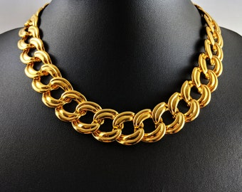 Vintage Gold-tone Chain Necklace Signed Napier PAT. 4.774.743 1960s