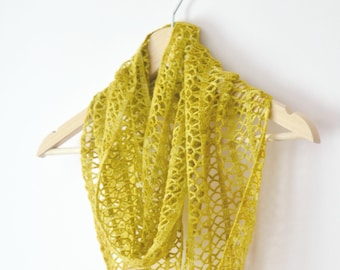 Crochet Sunny Lace Cowl instant download PDF PATTERN wearable garment infinity scarf crochet cowl US terms