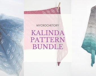 MyCrochetory Kalinda Pattern BUNDLE 3 crochet patterns PDF patterns discount Kalinda Shawl Kalinda Blanket Kalinda WrapUS terms