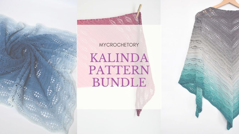 MyCrochetory Kalinda Pattern BUNDLE 3 crochet patterns PDF image 0