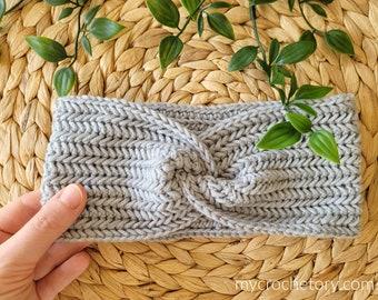 Twisted Herringbone Crochet Headband instant download PDF pattern printable earwarmer crochet for fall photo tutorial US terms