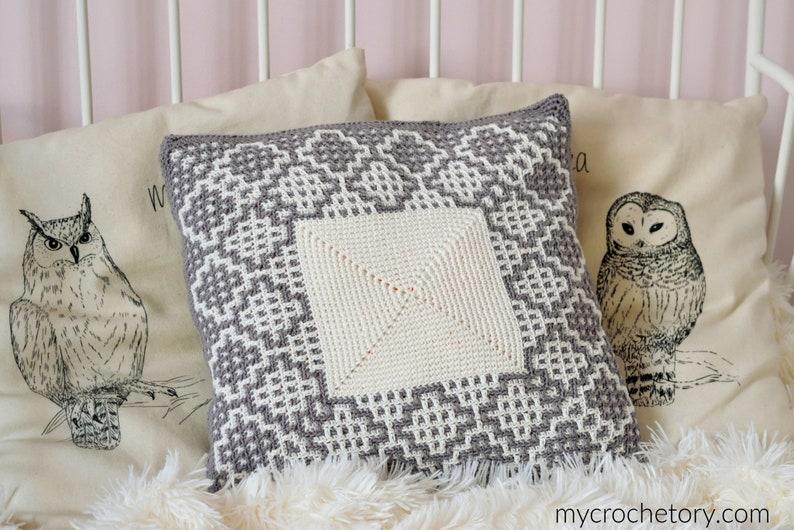 Carina Square Crochet Pillow cushion PDF pattern instant image 0