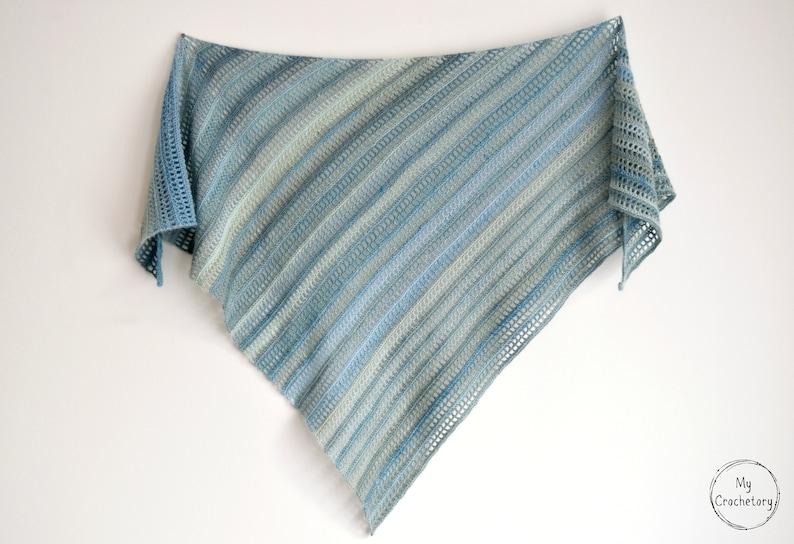 Crochet Aprilis Shawl instant download PDF PATTERN wearable image 0