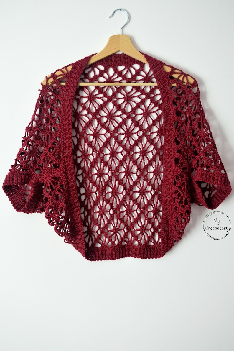 Meadow Lace Crochet Shrug instant download PDF PATTERN image 0