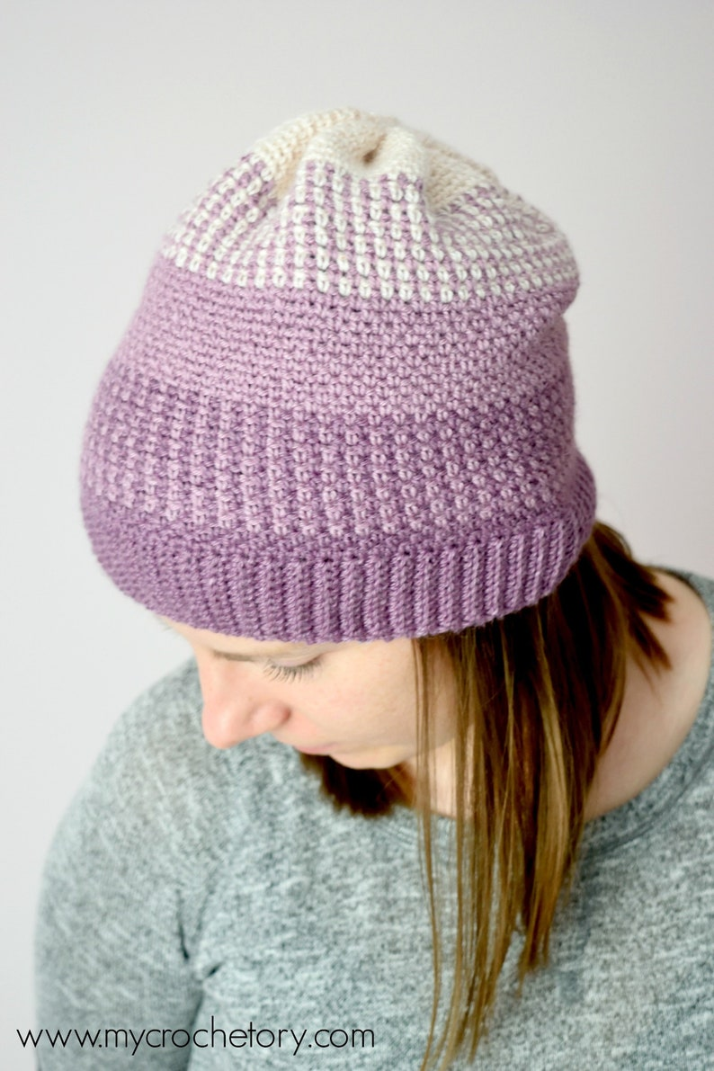 65f8ad7d43c Ombre Moss Stitch Beanie instant download PDF PATTERN wearable