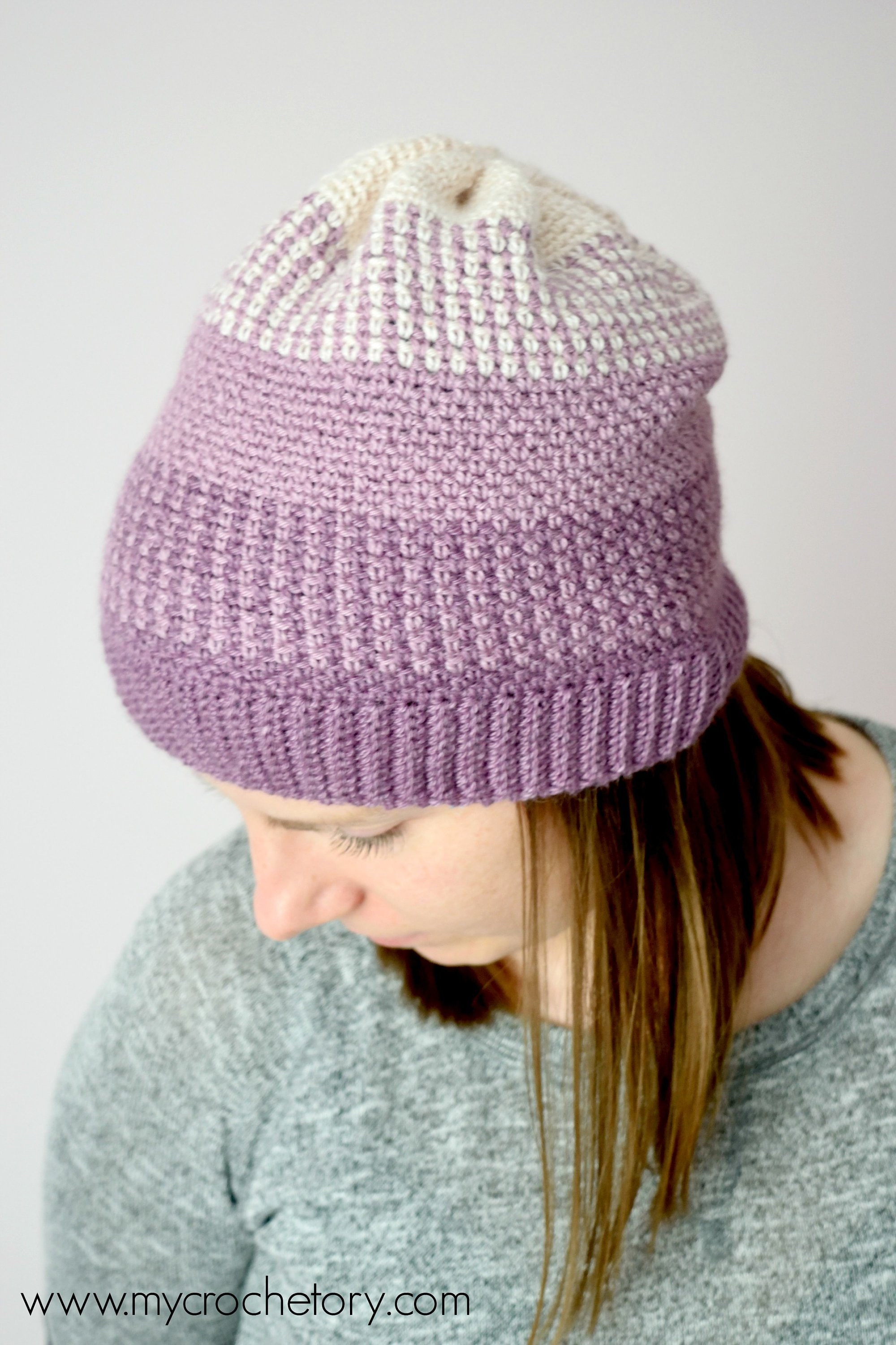 Ombre Moss Stitch Beanie instant download PDF PATTERN wearable  116cd39c1df