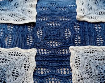 Crochet Kalinda Blanket by MyCrochetory, PDF pattern, instant download, crochet baby blanket, throw, wave motif, repetitive pattern