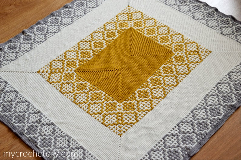 Carina Rectangle Crochet Blanket throw PDF pattern instant image 0
