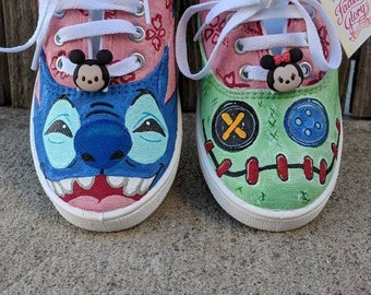 007aa3d7f245 Disney Lilo and Stitch Painted Shoes