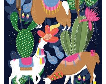 Llamas Print