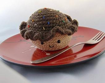 Crocheted Chocolate Cupcake
