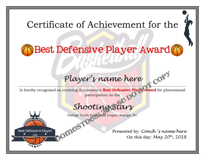graphic about Printable Basketball Certificates named Editable Basketball Certificates (Ladies and Boys) - Electronic Downloads, Printable Deliver Your Individual Template Provided