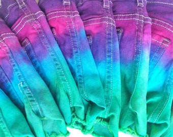 Children's Distressed Tie Dyed Shorts