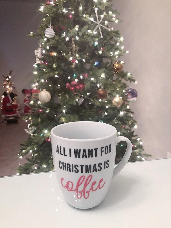 Coffee Christmas Morning.Christmas Coffee Mug Holiday Mug Christmas Morning Coffee Lover Mug