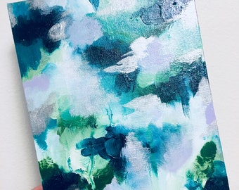 Green themed abstract painting
