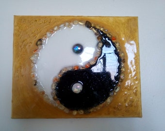 a1ee14f5a Yin Yang wall art resin picture
