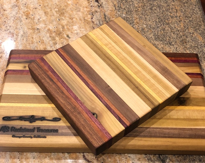 Reclaimed Wood Cutting Board + Trivet