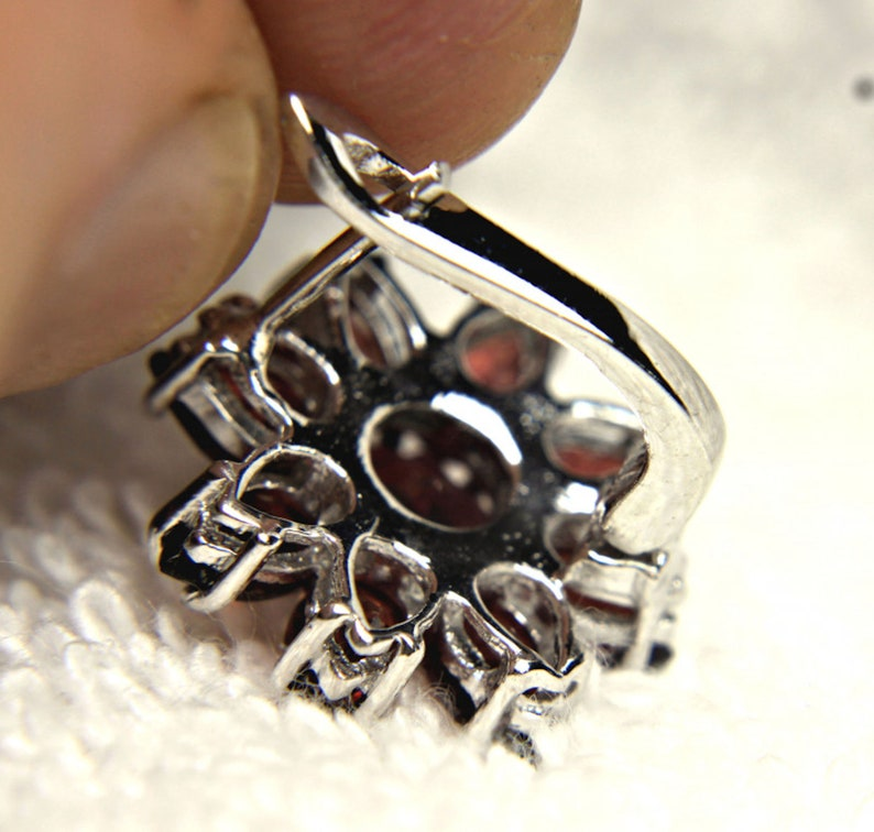 87.05 Tcw Gorgeous Natural Garnet Birthstone Jewelry Set Matched Garnet Earrings and Ring