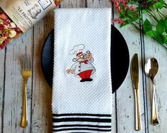 Kitchen Dish Hand Towels Italian Pizza Restaurant Chef Set of 2 FREE SHIPPING