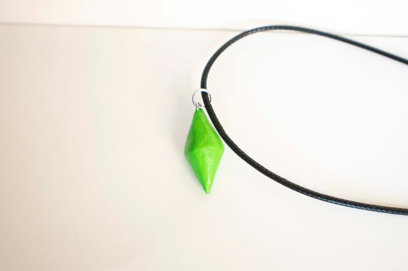 Sims 3 - Plumbob - Polymer Clay Charm Necklace