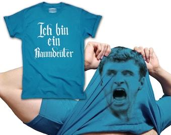 9bd02185b Thomas Muller T-shirt Flip Up Ich bin ein Raumdeuter inspired world cup  2018 Germany Bayern Deutschland jersey for men women and kids