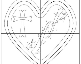 scroll saw box template sacred heart rosary box