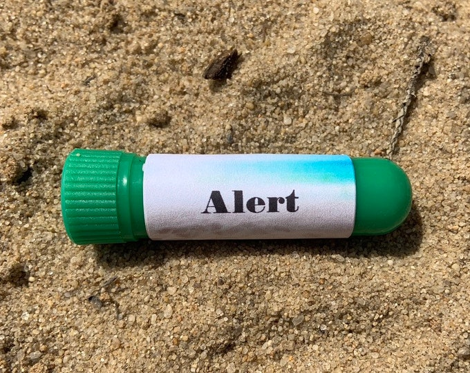 Alert essential oil inhaler