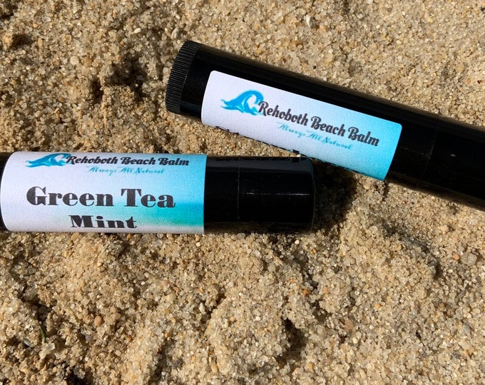 Green tea and mint lip balm