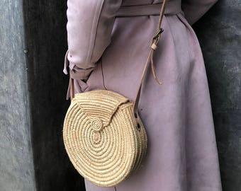Hand woven round purse