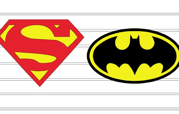 Superman Batman Symbols Png Svg Cricut Etsy