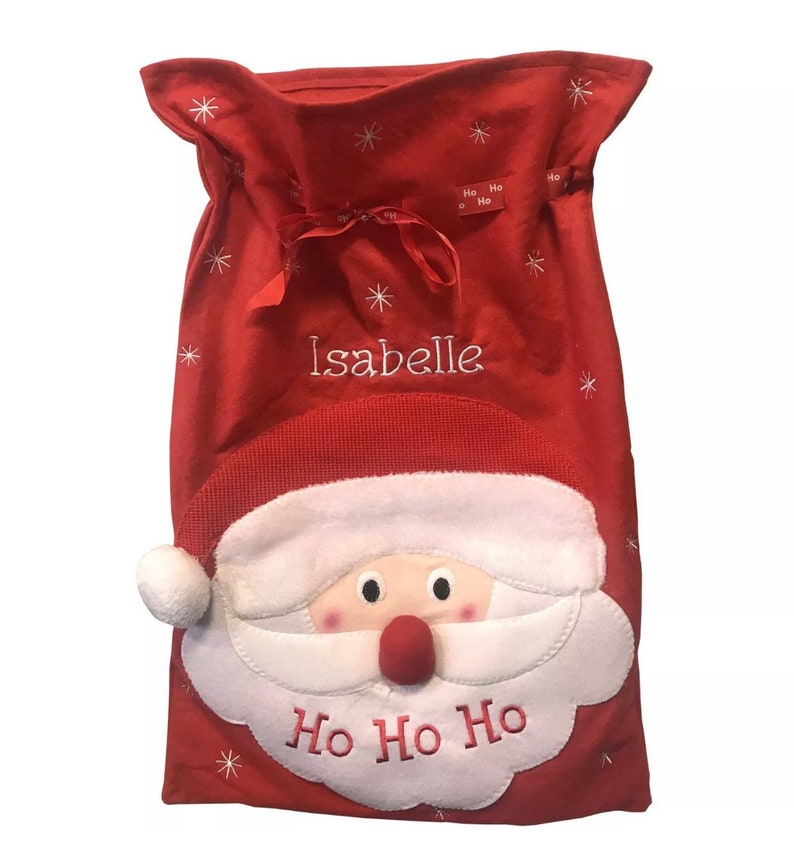 86cfcc619f Personalised Embroidered Xmas Christmas Large Santa Sack