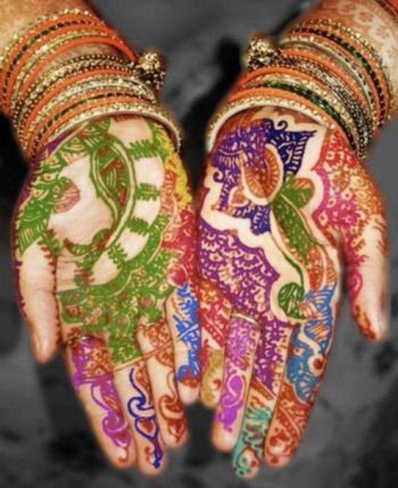 bf85a2996 Offer 8 Pcs Multi Coloured Henna conesHenna KitHenna   Etsy