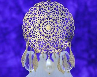 CLEA crystal earrings