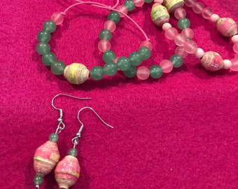 Summer Colorful Bracelets and Earrings