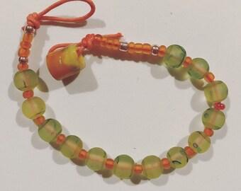Cool Lime and Orange Bracelet