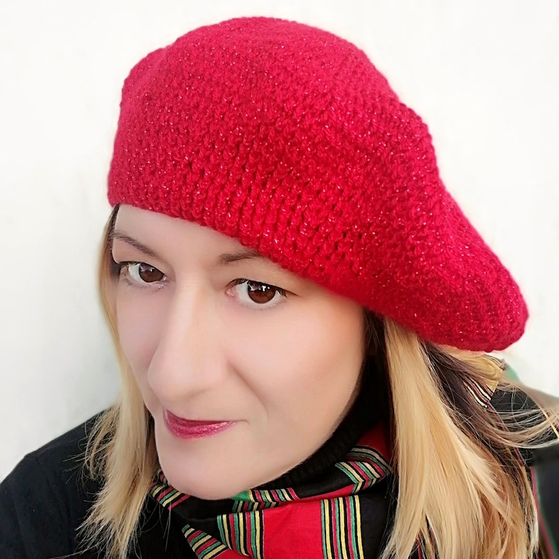 20aa941ed34 Red Beret   French Beret   Winter Hat   Slouchy Beanie